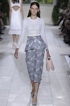Balenciaga RTW Spring 2014, #8 / GREAT top...  everything else is awful
