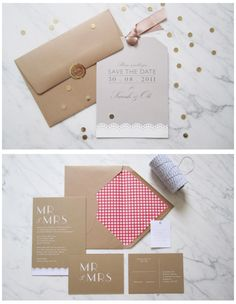 Brown paper products... DIY inspiration
