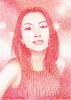 2000 Hikaru Utada. color pencil by Naoko Aoyama