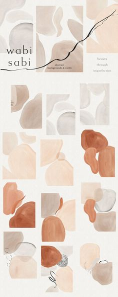 Wabi-Sabi Terraform Abstractions by OpiaDesigns on Creative Market Wabi Sabi, Colour Pallete, Color Schemes, Decoration Inspiration, Design Inspiration, Deco Zen, Floral Design, Graphic Design, Art Graphique