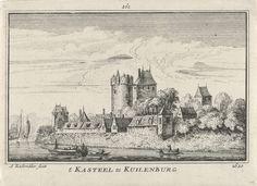 Gezicht op Kasteel Culemborg, Abraham Rademaker, 1727 - 1733