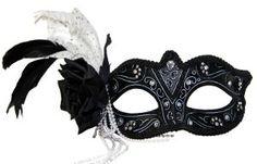 Persephone Black Masquerade Mask