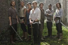 Leon, Percival, Merlin, Arthur, Lancelot, Elyan and Gawaine in the BBC TV series Merlin