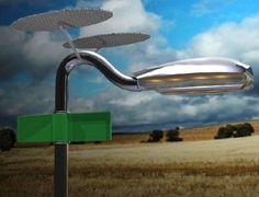 Hybrid Wind and Solar Powered Streetlamps Can Run Off-Grid  #energy #solar #wind