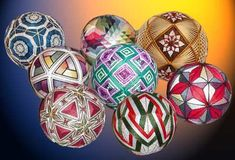 Temari - Temari balls are an folk art form that originated in China and were introduced to Japan five or six hundred years ago.  Beautiful!