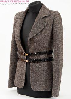 DIY Tutorial: Zu enge Blazer mit dekorativen Gürteln oder Hosenträgern aufpeppen