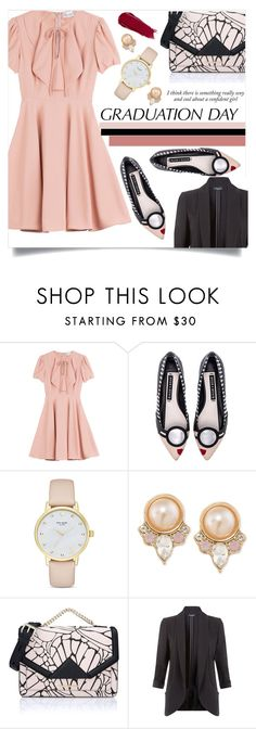"""""""Graduation Day"""" by sonny-m ❤ liked on Polyvore featuring RED Valentino, Alice + Olivia, Kate Spade, Carolee, Karl Lagerfeld, Haze, New Look, NARS Cosmetics, Pink and polyvoreeditorial"""