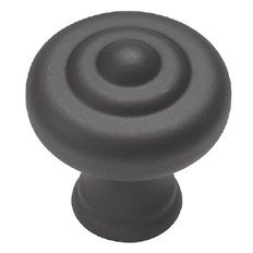Belwith Keeler 1 1/4 inches Cabinet Knob Wrought Iron Black