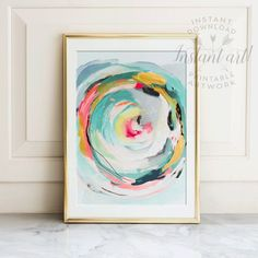 Abstract art, Wall art, PRINTABLE art, Colorful art, Abstract print, Modern painting, Abstract painting, Brushstroke art,Wall decor, Pastel #abstractart