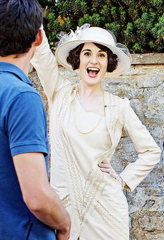 Downton Abbey Season 6 Michelle Dockery ..See Downton's Cast Out of Character..