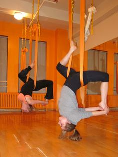 Would Love to try this!  Anti-Gravity Yoga!