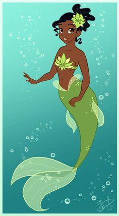mermaids cartoons   MERMAIDS<< princess Tiana?