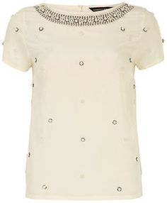 Ivory pearl embellished top on shopstyle.com--For christmas party