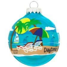 Personalized Beach Scene Glass Ornament $11.99