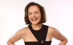 elisabeth moss with cropped hair and harsh geometric dress. Peggy Olson, Elizabeth Moss, Geometric Dress, Mad Men, Hollywood, The Incredibles, Actresses, Tank Tops, Celebrities