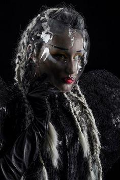 Inspiring avant-garde make-up by world renowned MUA Lan Nguyen-Grealis. #GFA2014