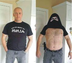 Ninja T-shirt Personalised Gifts, Ninja, Mens Tops, T Shirt, Fashion, Personalized Gifts, Supreme T Shirt, Moda, Tee Shirt