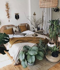 Ten boho bedroom ideas to help you design your own inviting space. Combine textures, colors, and patterns to create a beautiful and unique space. Boho Bedroom Diy, Home Bedroom, Bedroom Decor, Bedroom Ideas, Bed Ideas, Decor Ideas, Decorating Ideas, Master Bedroom, Bohemian Bedrooms