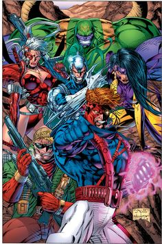 Jim Lee Milestone - Teaming up with other extraordinary former Marvel artists to establish Image Comics, Jim Lee introduces WildC.S and the WildStorm Universe which includes Gen Comic Book Artists, Comic Book Characters, Comic Book Heroes, Comic Artist, Comic Character, Comic Books Art, Image Comics, Dc Comics, Caricature