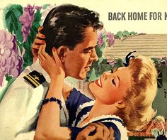 Back Home For Keeps ~ WWII era Community Silverplate ad, 1943.