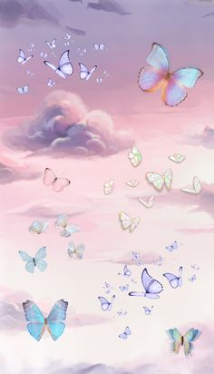 Blue Butterfly Wallpaper, Pastel Iphone Wallpaper, Cute Galaxy Wallpaper, Bad Girl Wallpaper, Butterfly Art, Cool Wallpaper, Butterflies, Aesthetic Desktop Wallpaper, Screen Wallpaper