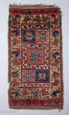 Central Anatolian Derbet Yastik 55 x 103 cm / 21 x inches Persian Carpet, Persian Rug, Turkish Kilim Rugs, Turkish Carpets, Ancient Near East, Tribal Rug, Vintage Rugs, Rugs On Carpet, Antiques