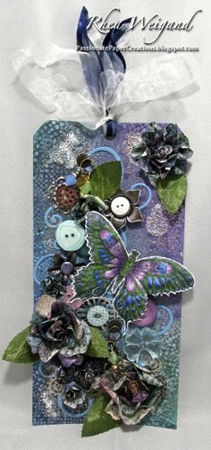 Passionate Paper Creations: Penny Black Butterfly Tag