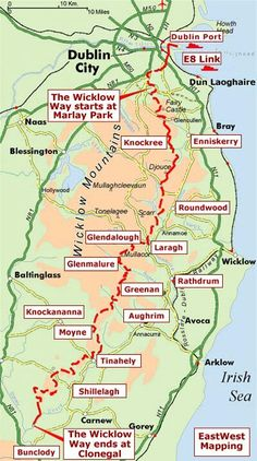 96 km start or finish in Dublin, Ireland. Ireland Hiking, Dublin Ireland, Ireland Travel, Ireland Holiday, Southern Ireland, Dublin Travel, Walking Holiday, Ireland Vacation, England And Scotland