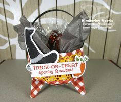 procrastistamper: A Paper Pumpkin Thing Blog Hop - Hello Pumpkin Lindt Truffles, Stampin Up Paper Pumpkin, Pumpkin Cards, Fall Cards, Coordinating Colors, Projects To Try, 3d Projects, How To Make Paper, Halloween Cards