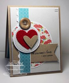 Valentines Card... All You Need Is Love! by Kharmagirl - Cards and Paper Crafts at Splitcoaststampers