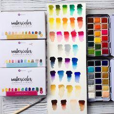 акварель, watercolor, primawatercolors