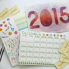 #watercolor session with @parvousph calendars by my side. A crafty afternoon indeed!