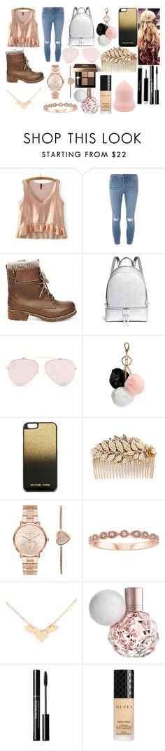 """""""Untitled #1"""" by cclevenger ❤ liked on Polyvore featuring Dorothy Perkins, Steve Madden, Michael Kors, GUESS, MICHAEL Michael Kors, Miriam Haskell, Bobbi Brown Cosmetics and Gucci"""