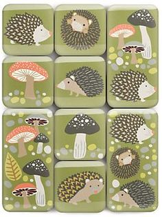 Hedgehog Magnets  can't get enough forest animals!