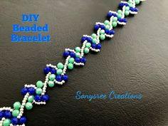 bracelets with beads Diy Beaded Bracelets, Beaded Bracelet Patterns, Handmade Bracelets, Beading Patterns, Beaded Earrings, Gold Bracelets, Diamond Earrings, Colorful Bracelets, Jewelry Necklaces