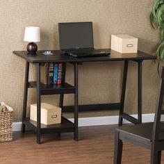 A-frame Black Hardwood Desk | Overstock.com Shopping - The Best Deals on Desks
