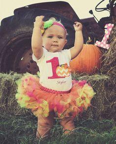 Pumpkin tutu Baby Pumpkin Birthday Baby Fall Birthday by SewsnBows