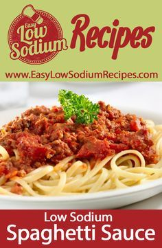 Easy recipe for Low Sodium Spaghetti Sauce. No need to overload with sodium from traditional pasta sauces. This recipe gives you an amazing, rich and bold flavor without all the sodium. Low Sodium Spaghetti Sauce, Spaghetti Sauce Easy, No Salt Spaghetti Sauce Recipe, Sodium Free Recipes, Salt Free Recipes, Salt Free Bbq Sauce Recipe, Low Sodium Bbq Sauce Recipe, No Sodium Foods, Low Sodium Diet