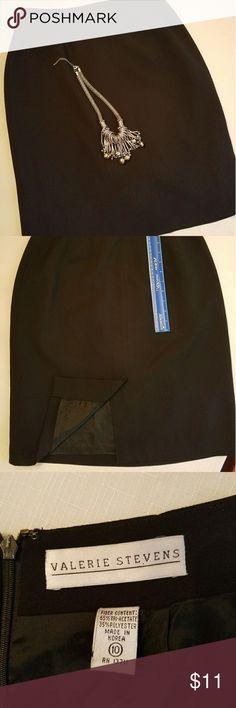 Pencil Skirt - Black Sz 10 Beautiful pencil skirt by Valerie Stevens. Back zipper. Valerie Stevens Skirts