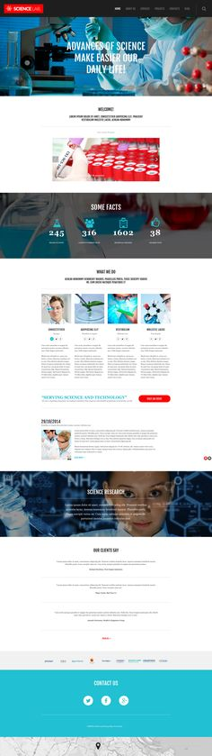 Science Lab - WordPress Theme