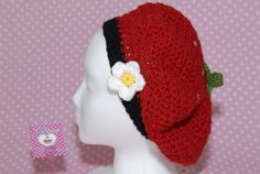 Strawberry Slouchy Hat-slouchy hat-crochet hat-women hat-strawberry-crochet strawberry-hat