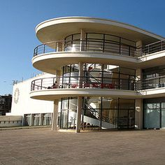 The De La Warr Pavilion in Bexhill The De La Warr Pavilion is an International Style building constructed in 1935 and designed by the architects Erich Mendelsohn and Serge Chermayeff; considered by some to be in an Art Deco style. Fortune Theatre, Erich Mendelsohn, Victoria Palace Theatre, Art Journal Backgrounds, Fiddler On The Roof, Streamline Moderne, Art Deco Buildings, East Sussex, West End