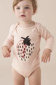 Strawberry onesie.