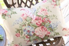 Vintage 1930s Custom Barkcloth Pillow with Soft Pink by SimplyPosh