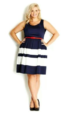 Chic plus stripe dress