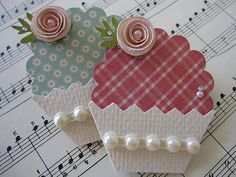 """""""INSPIRATIONS GALORE!"""" Cupcake Embellishments -yep there's 391 of these amazingly cute paper crafts."""