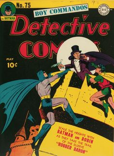 Detective Comics #75 (1943).  Cover art:  Bob Kane.  A collection of some of the top comic book covers featuring BATMAN - album by BATCAVE DWELLER!