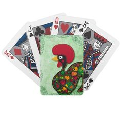 Typical Rooster of Barcelos Bicycle Poker Cards