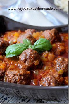recette de viande hachée boulette