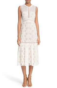 Rebecca Taylor Crochet Lace Sleeveless Dress available at #Nordstrom